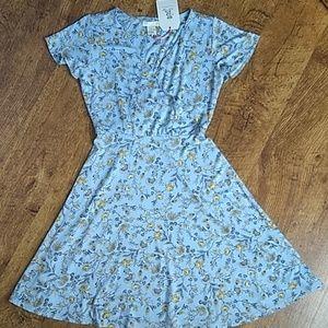 Rachel Ashwell Sky Blue Yellow Floral Dress